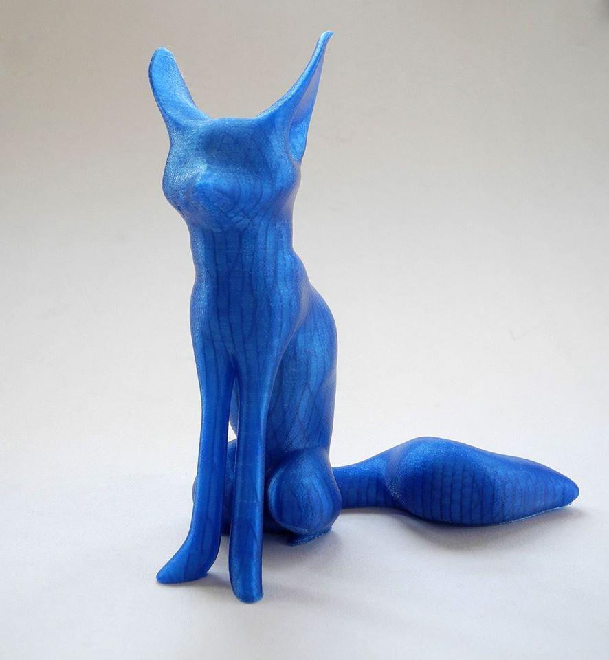 3d printed fox statue