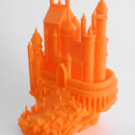 3d printed orange castle