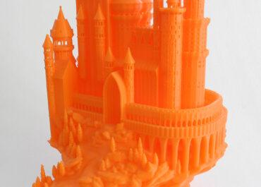 zamek z dużą ilością detali wydrukowany na urbicum